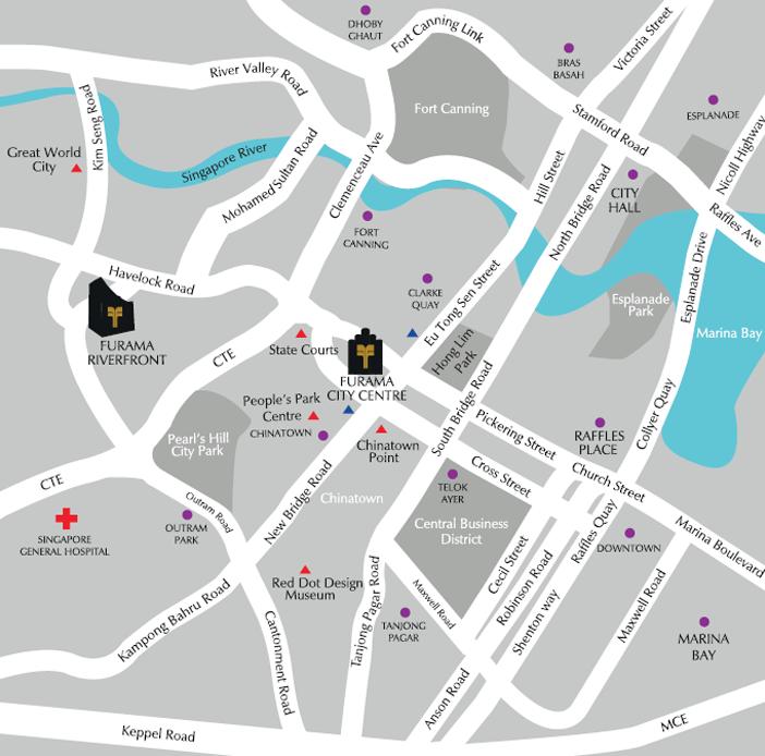 Furama city centre location map of furama city centre singapore gumiabroncs Images